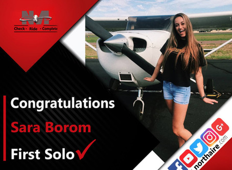 First Solo Sara Borom