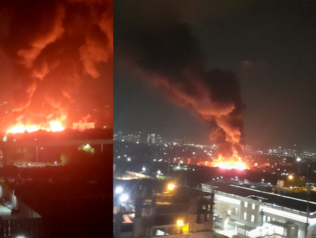 Major fire ignited in a slum at Barola Village of Noida on May 4