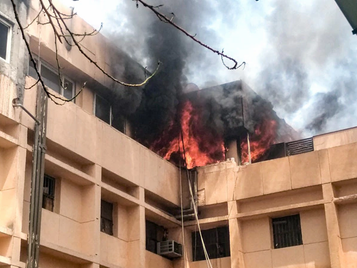 Major fire broke out at the Noida Metro Office on June 18