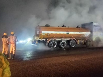 Acid leak from a tanker on NH 16 in Nayagarh on June 17