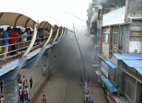 Major fire gutted in a timber godown near Dombivli railway station on July 15