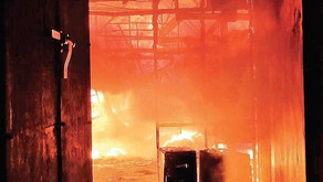 Fire broke out in Cuttack's Incense factory; none hurt.