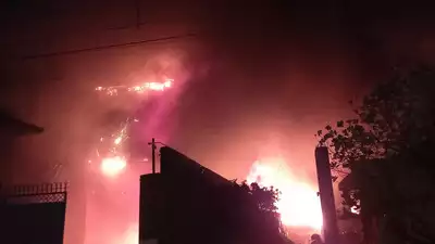 Major fire gutted three factories at Dada Nagar Industrial Area in Kanpur on August 25