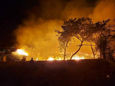 Massive Fire at Rohingya Camp Left Hundreds Homeless on June 12