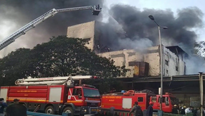 Fire ignited in a packaging factory in Vareli area of Surat on October 18