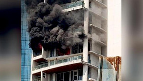 Major fire erupted in a high rise at Mumbai's Curry Road on October 22; one person died