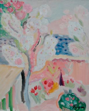 Arbre en Fleur Pres de la Mer 2006