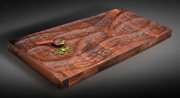 Carved Blk Walnut Serving Slab