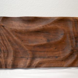 Carved Walnut Serving Slab - SOLD