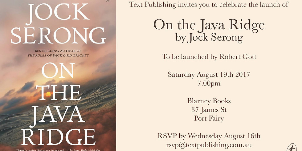 Book Launch - On the Java Ridge by Jock Serong