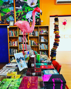 Flamingo/Book Stack