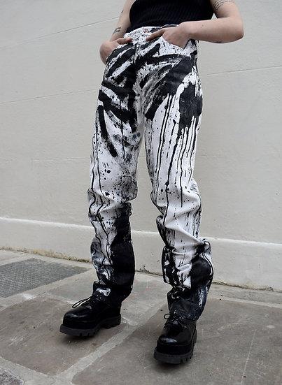 Black Drip Jeans