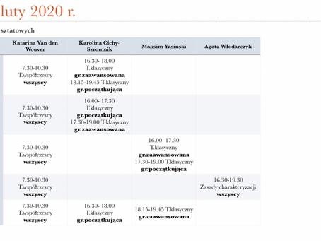PLAN WARSZTATÓW ZIMOWYCH 2020!!!