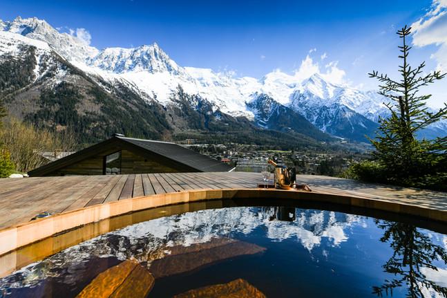 Chamonix luxury chalet view