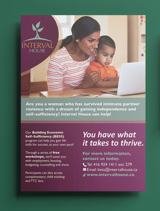 Outreach Flyer for Interval House