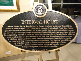 Interval House Historical Plaque