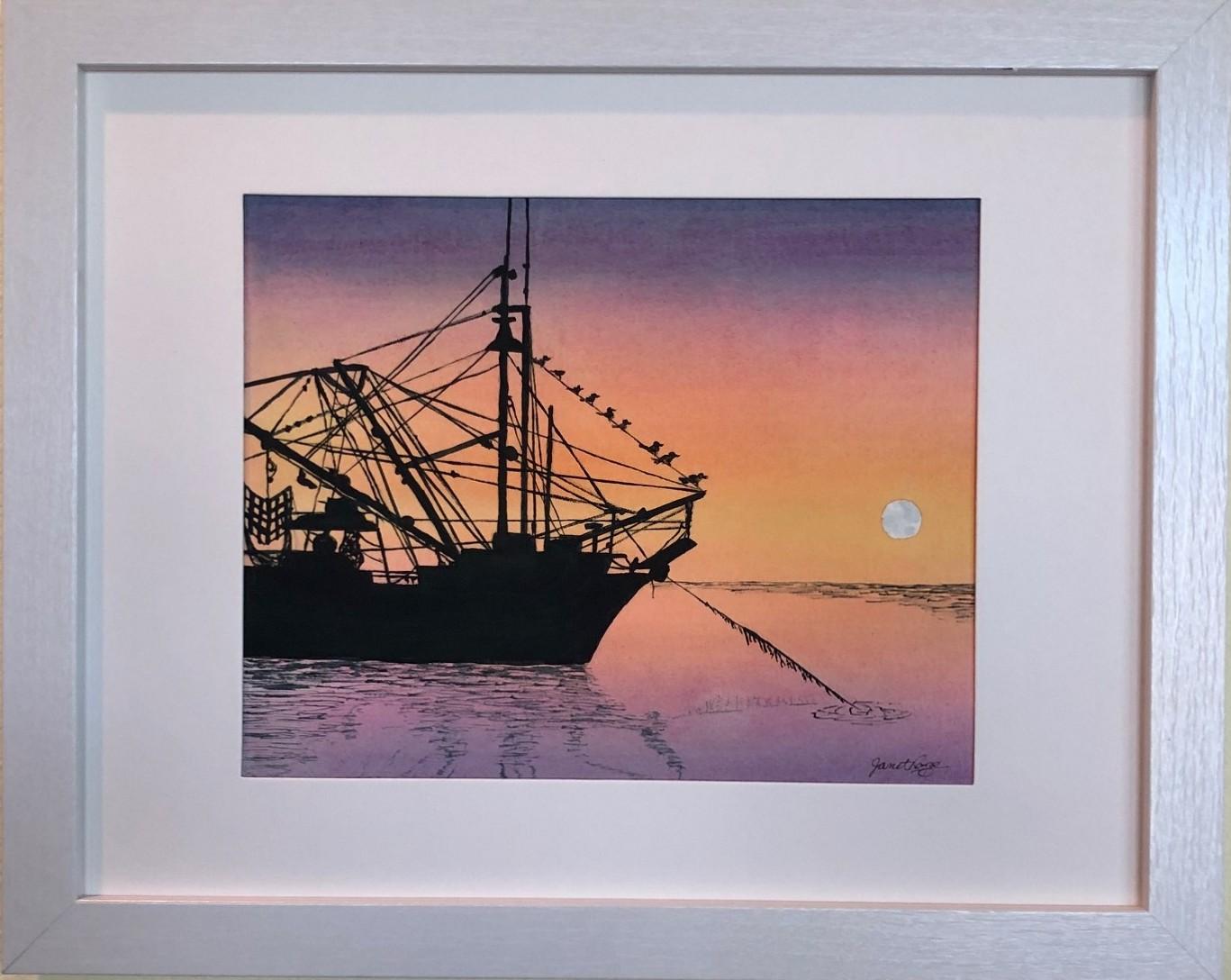 Sunrise-Moonrise Cortez Fishing Trawler