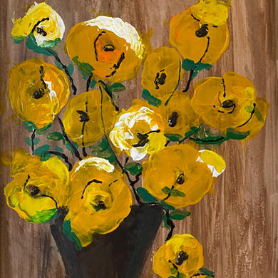 Gold Florals