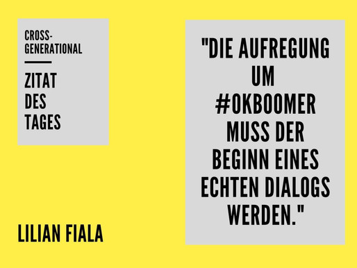 #okboomer - der Hashtag ist Ausdruck des Generationskonflikts