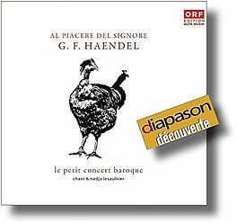 Le Petit Concert Baroque - Harpsichord duo - Händel CD Haendel