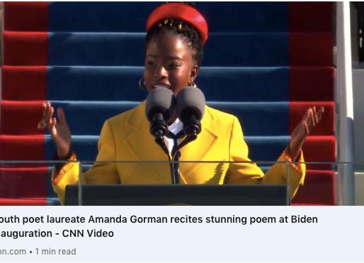 Amanda Gorman vertritt die Generation Z bei der Amtseinführung von Joe Biden und Kamala Harris