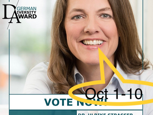 German Diversity Award nominiert Dr. Ulrike C. Straßer