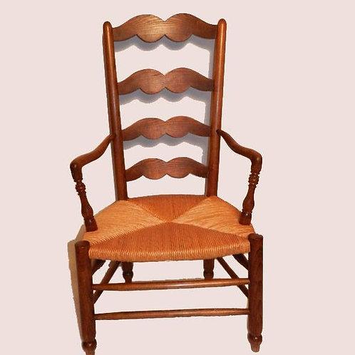 Paire de fauteuils paillés