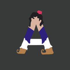 Letter A - Aladdin