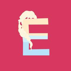 Letter E - Elsa