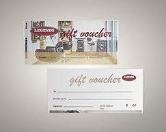 legends hairdressing gift voucher mockup