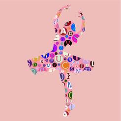 Alphabet Typography Ballerina
