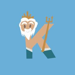 Letter K - King Triton