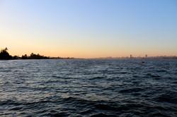 Maputo skyline seen from the sea
