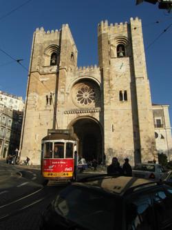 Lisbon Cathedral & No. 28 Tram