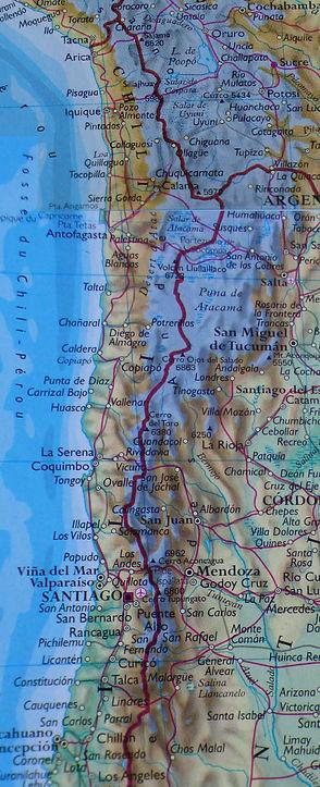 Carte géographique du Chili (1)