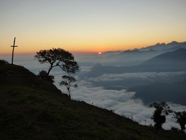 Coucher du soleil depuis la Sierra Nevada de Santa Marta