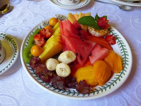 Fruits du petit déjeuner à l'hôtel Casa de Lucy Cartagena