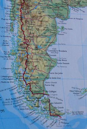 Carte géographique du Chili (2)