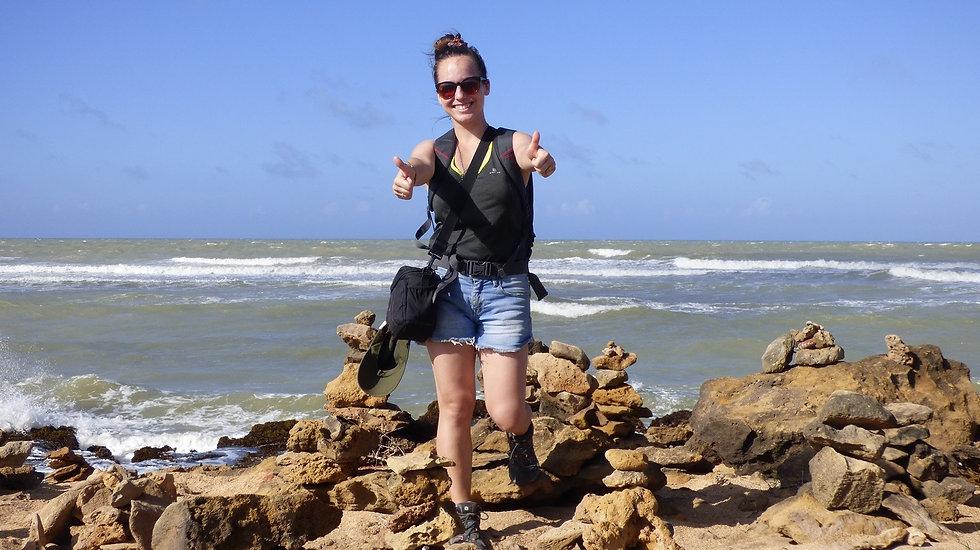 Aurélie, notre guide à Punta Gallinas dans le désert de La Guajira (Colombie)