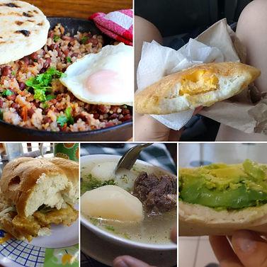 Variété de petit-déjeuners en Colombie et Chili
