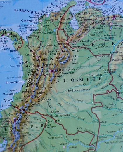 Carte géographique de Colombie