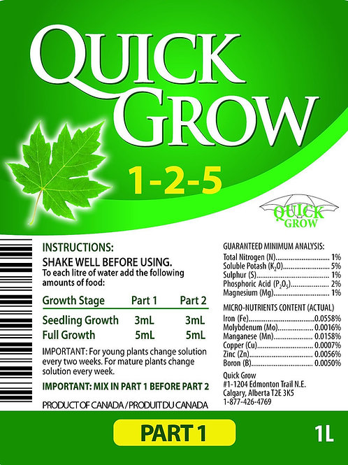 Quick Grow Part 1