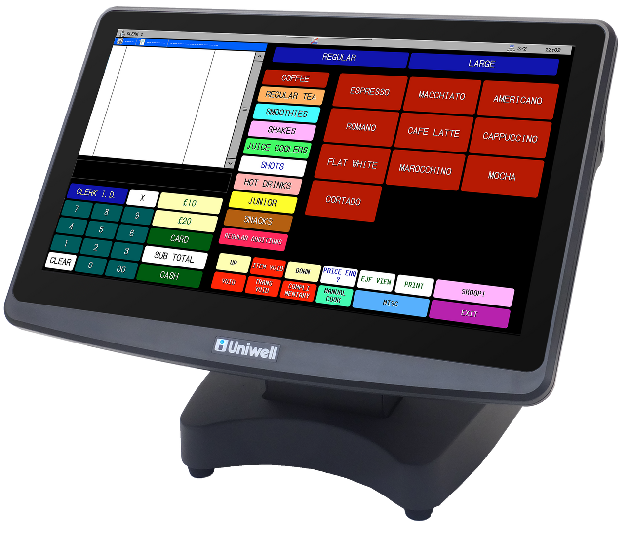 Uniwell Touchscreen