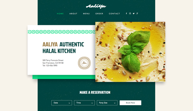 Restaurants en eten website templates – Halalrestaurant