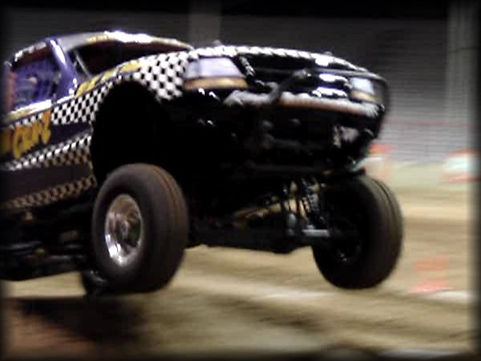Tough Truck Jumping at Monster TNT 2021.
