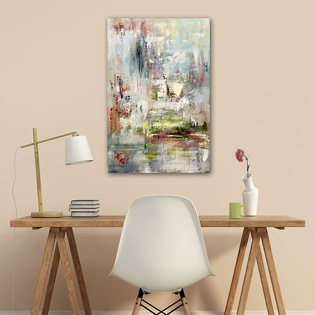 Magic Morning - Palette Knife Abstract Painting