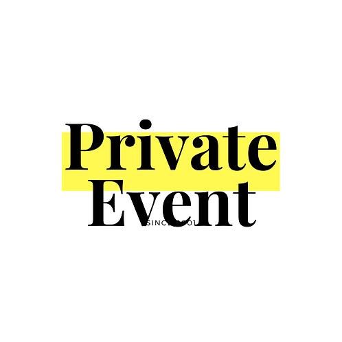 11/9: Trusha Patel Private Event