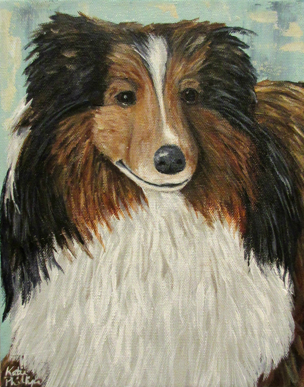 Pet portraits by Atlanta artist Katie Phillips