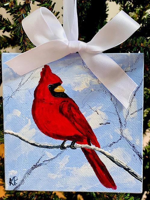 Cardinal Mini Canvas Ornament