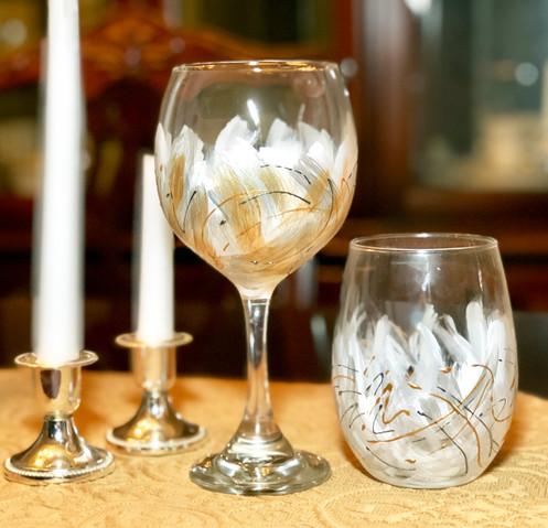 Winter Wonderland Painted Wine Glass